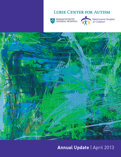 The Lurie Center Annual Report Cover featuring one of Billy Megargel's paintings